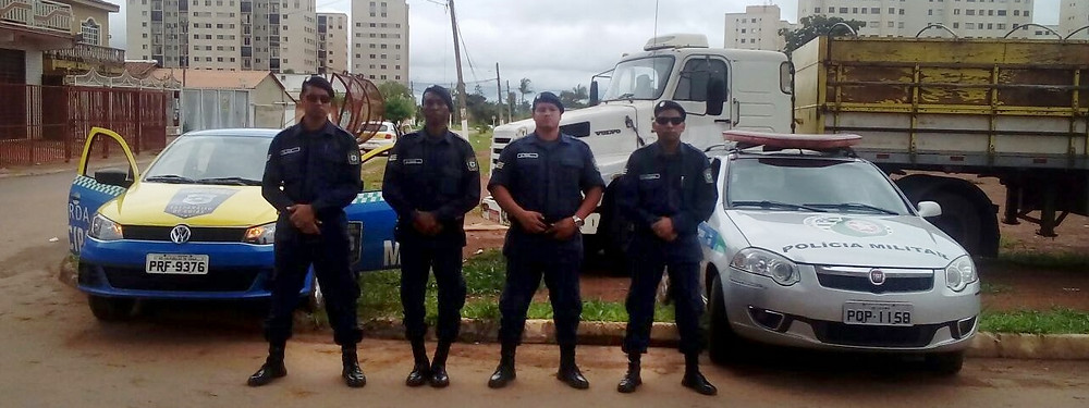 Guarda Municipal de Valparaíso apreende caminhão roubado