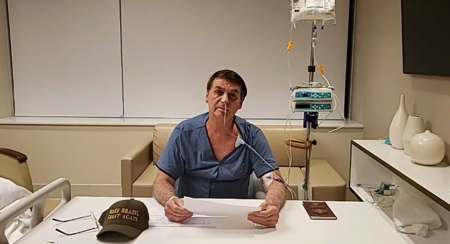 Do hospital, Bolsonaro afirma que a criação de novos impostos está fora de cogitação