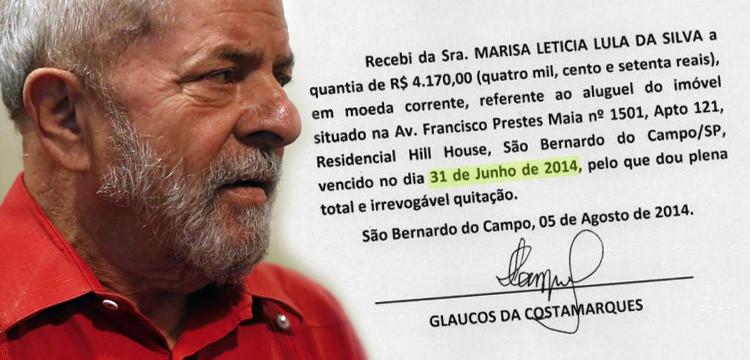 Recibos apresentados pela defesa de Lula geram mais dúvidas do que esclarecem os fatos