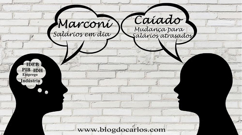 Marconista e Caiadista conversando na rede social
