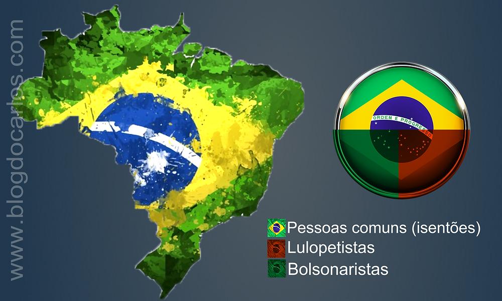 O Brasil está dividido em 3, não em 2 como pensam os Bolsonaristas e imaginavam os Lulopetistas