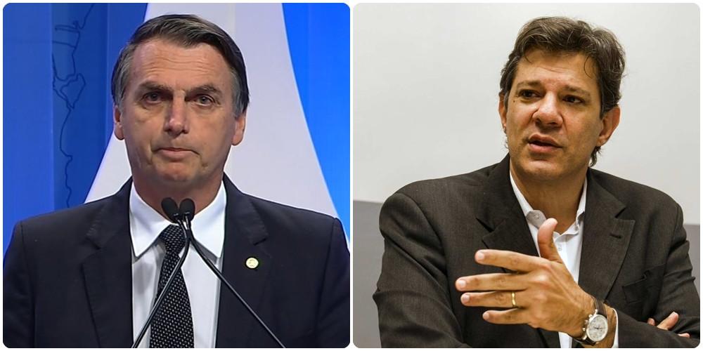 Bolsonaro tem 57% dos votos válidos e Haddad fica com 43%, aponta o IBOPE