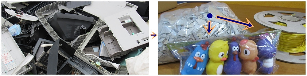ONG de Valparaíso, Programando o Futuro, tritura plastico de televisores e monitores velhos para que sejam transformados em brinquedo e ou em matéria prima para impressoras 3D