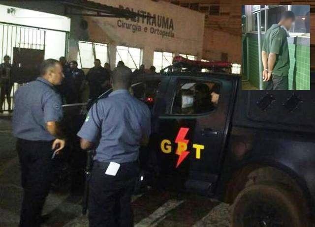 Adolescente que atirou no rosto de um vigilante do Hospital Regional do Gama é prezo