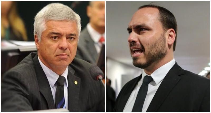Clima esquenta entre o senador Major Olímpio e o filho do presidente, Carlos Bolsonaro