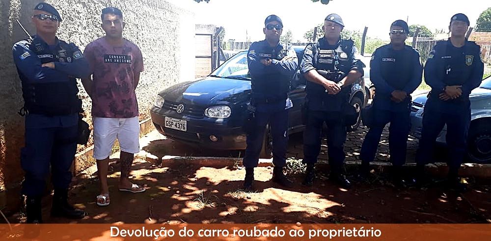 Guarda Municipal de Valparaíso recupera carro roubado