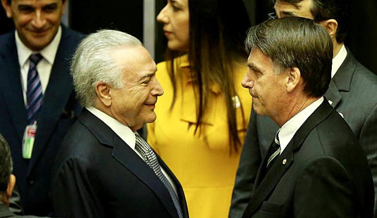 Bolsonaro se reúne com Temer e inicia oficialmente a transição de governo nesta quarta-feira