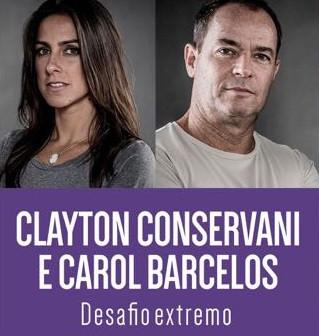 Clayton Conservante e Carol Barcelos em Valparaíso