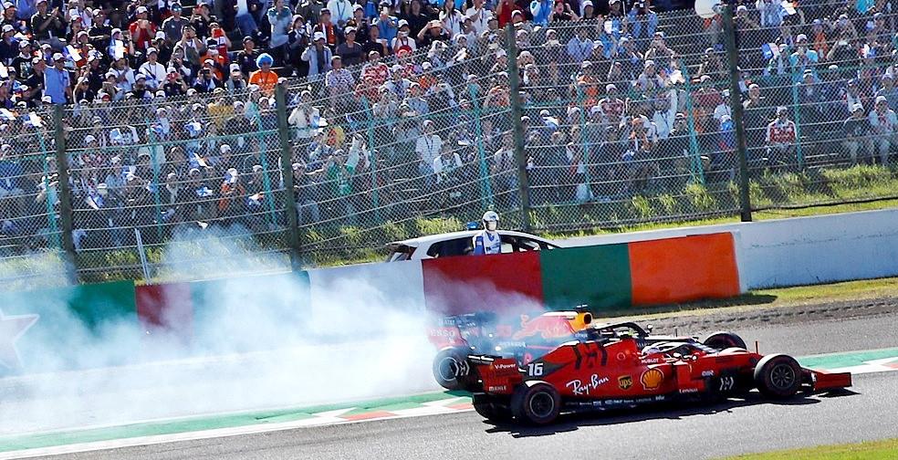Leclerc assume a culpa por batida com Verstappen no Japão