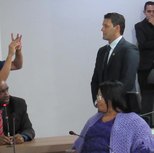 Secretário de Governo de Valparaíso, Plácido Cunha, tieta futuro presidente da Câmara Municipal, eleito com sua articulação