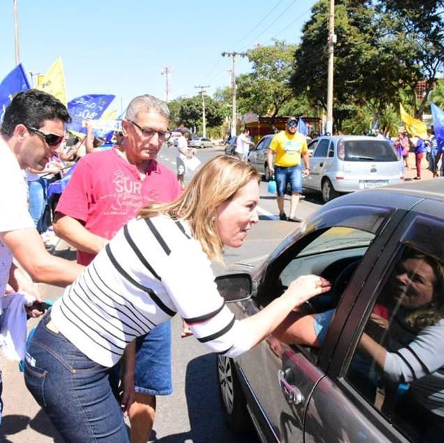 Campanha à reeleição de Leda Borges movimenta Valparaíso no fim de semana