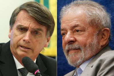Bolsonaro empata tecnicamente com Lula em Goiás
