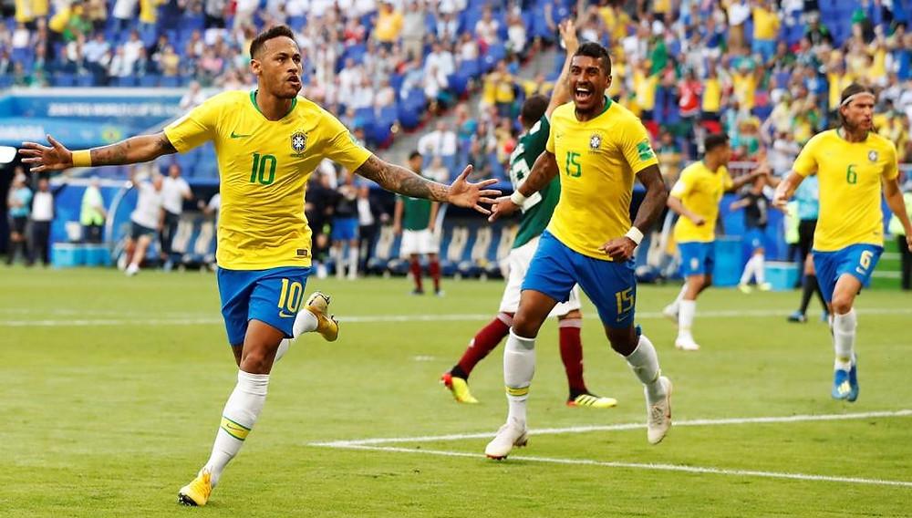 Brasil vence, convence e passa para as quartas de finais da Copa do Mundo na Rússia