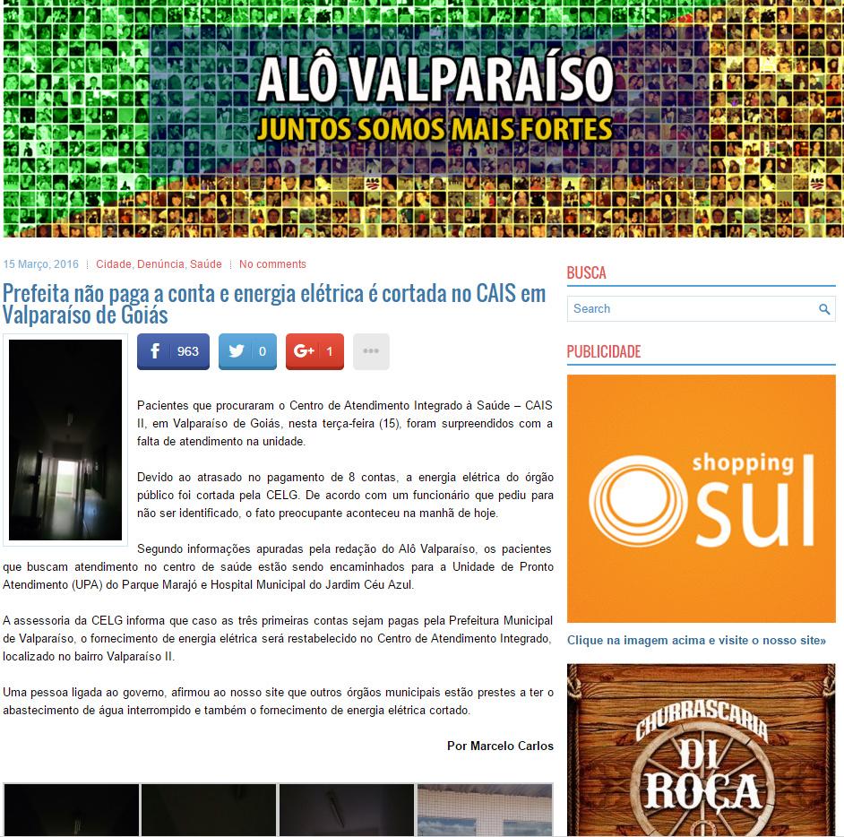 ALÔ VALPARAÍSO denuncia