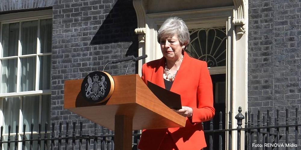 Theresa May anuncia sua renuncia após fracasso com o Brexit