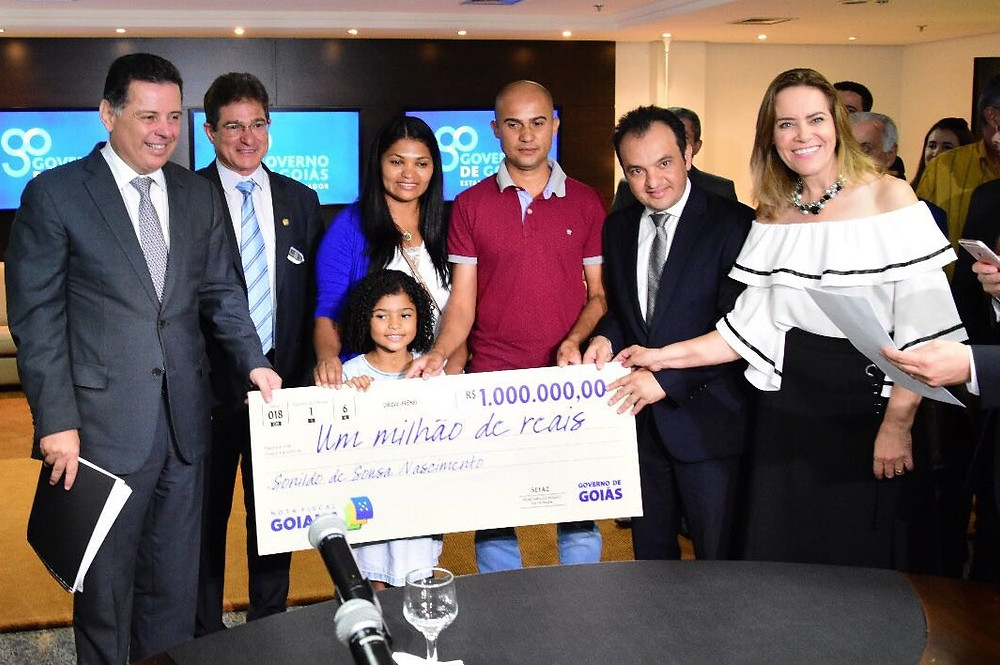 Morador de Valparaíso ganha R$ 1 Milhão do programa Nota Fiscal Goiana