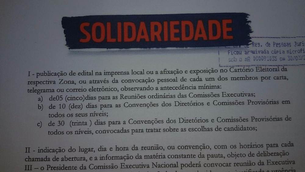 Estatuto do Solidariedade