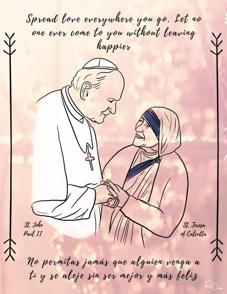 St. John Paul II & St. Theresa of Calcutta