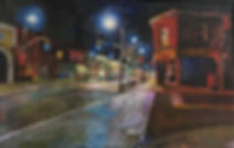 Dundas and Clendenan- encaustic on wood