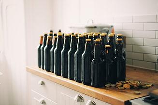 Flessen van het bier