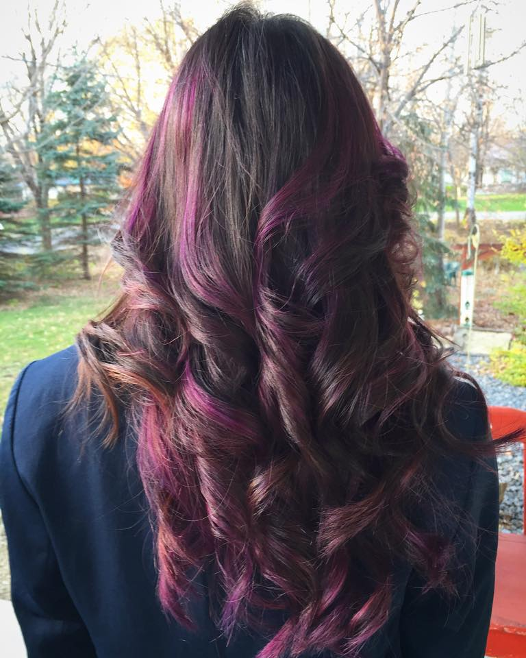 Purple Ombre with highlights