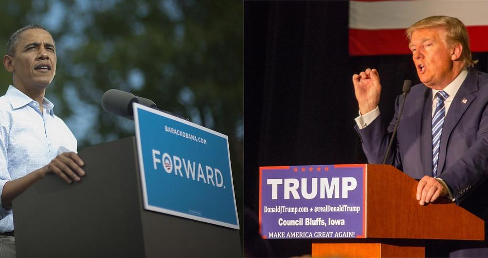 Erfolgsfaktoren von Donald Trump und Barack Obama