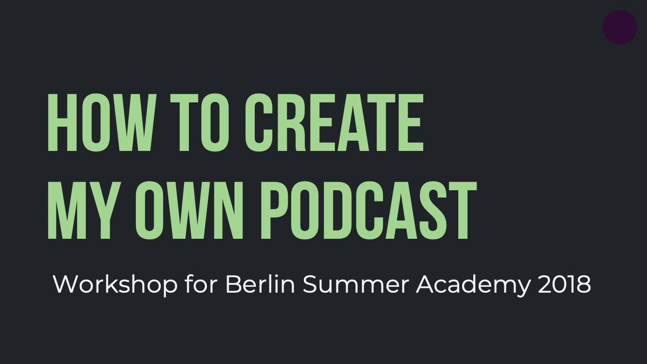 Podcast-Workshop