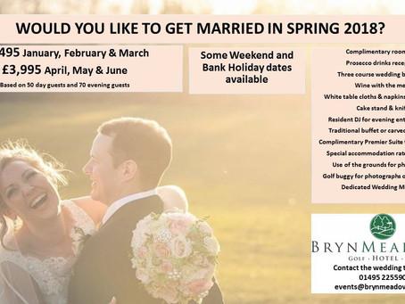 Bryn Meadows Wedding Experience Evening