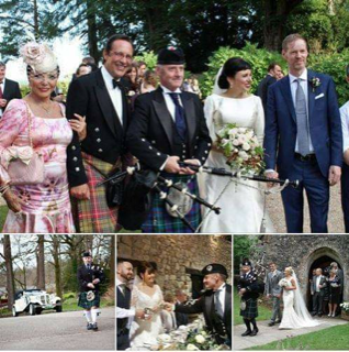 Bagpiper in South Wales John Campbell performis at many weddings!