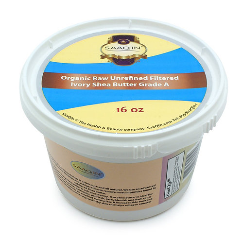 African Ivory Shea Butter Cream 16 Oz. (100% Pure