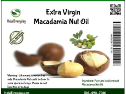 Macadamia Nut Oil - 100% Pure - 16 Oz - 100% cold pressed - Vegan
