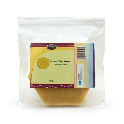 ORGANIC YELLOW BEESWAX HEXAGON SHAPE 1 Lb
