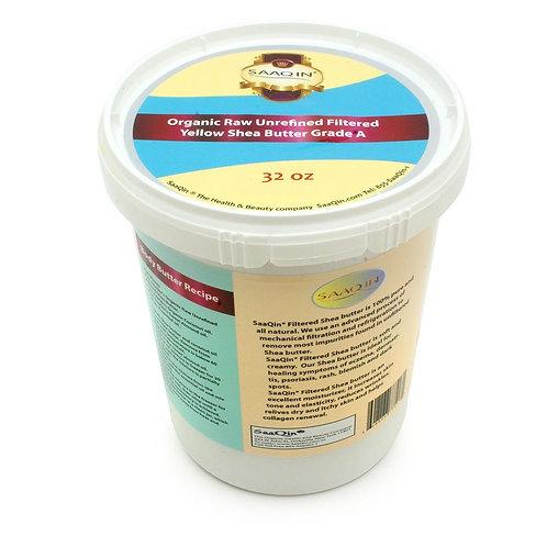 32oz. Organic Yellow FILTERED CREAMY Shea Butter
