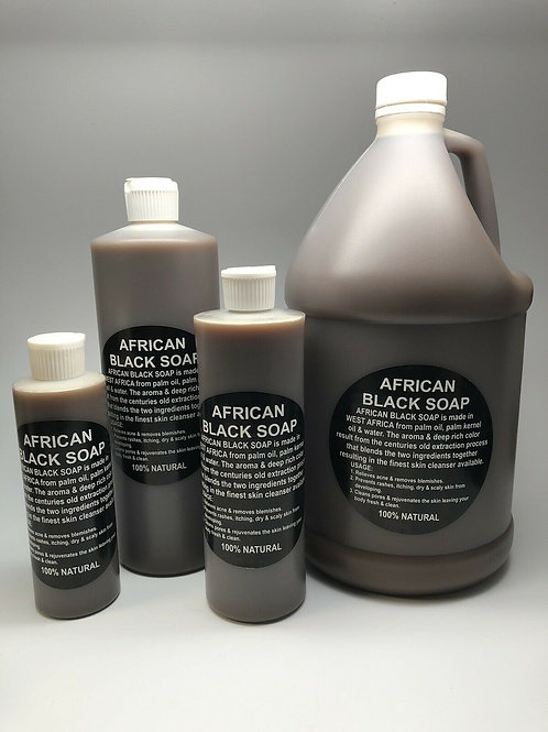 Raw African Black Soap Liquid