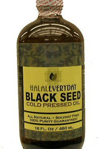 100% Pure Cold Pressed Black Seed Oil - Nigella Sativa - 16oz Glass, Vegan