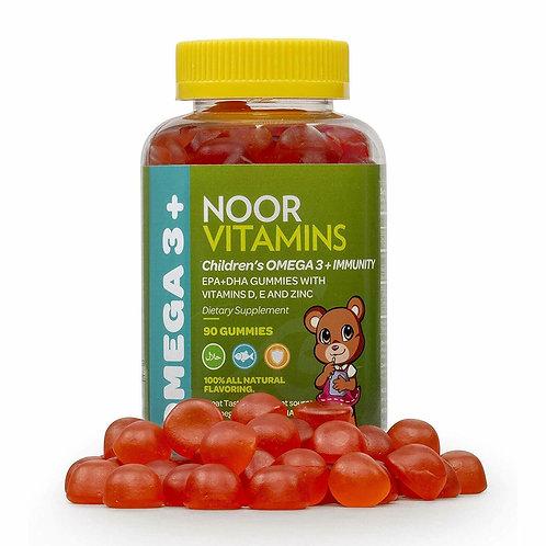 NoorVitamins Children's Omega 3 Immunity Gummy Vitamin