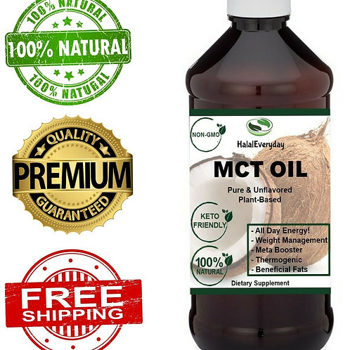 MCT -100% Pure MCT Oil From Coconut Keto Paleo Diet -Raise Ketones C8 & C10 MCTs