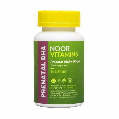 NoorVitamins Prenatal DHA + GINGER Softgels Vitamin