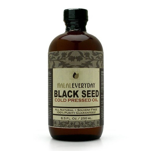 100% Pure Cold Pressed Black Seed Oil-Nigella Sativa-8.5oz-NON-GMO, Vegan- Glass