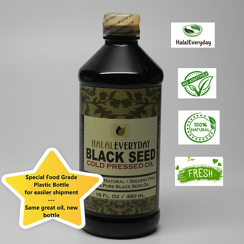 32 oz 100% Pure Black Seed Oil - In plastic bottle - NON GMO -Vegan