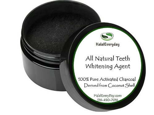 Activated Charcoal/Coconut Shell Charcoal - natural Teeth Whitener - 4oz Jar