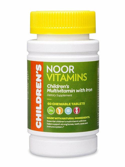 NoorVitamins Children's Chewable Multivitamins + Iron