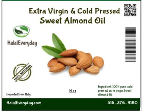 Sweet Almond Oil - 100% Pure and Cold Pressed-8oz