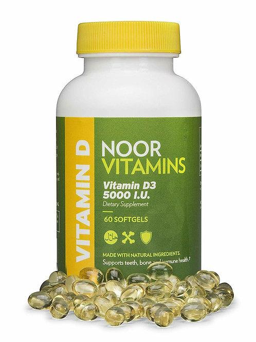 NoorVitamins Vitamin D3 5000 IU Supplement