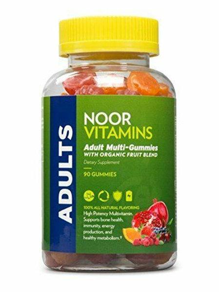 NoorVitamins Adult Gummy Multivitamins with Organic Fruit Blend