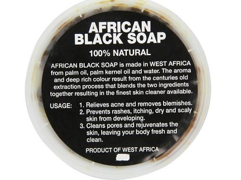 African Black Soap paste 8 oz - Made with pure Raw African Black soap - Free of