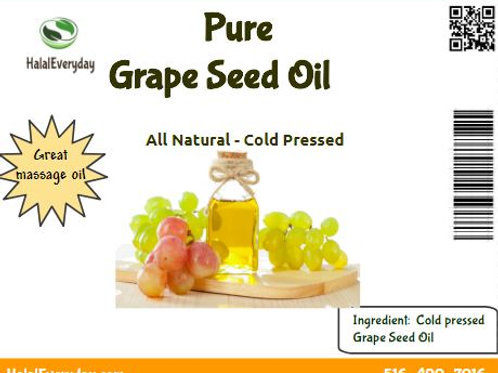 Grapeseed Oil - 100% Pure - 16 Oz