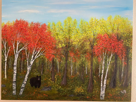 Bear in the Autumn Woods