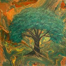 Tree of Life Metallic over Pour