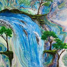 Fantasy Blue Falls over Pour